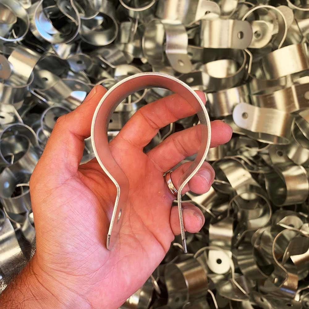 Fascetta in rame 60//76//80//87//100//120//150 mm con attacco filettato M8//M10 Fascetta per tubi in rame Morsetto a vite per il fissaggio di tubi di caduta alledificio